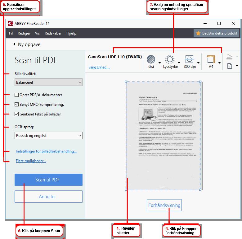 scanning af dokumenter til pdf