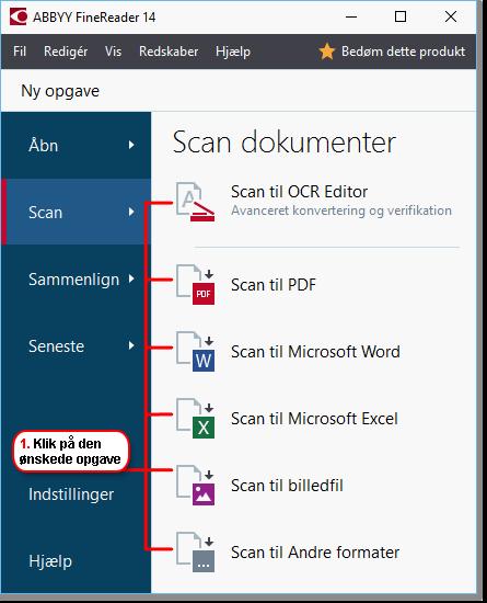 scanning af dokumenter