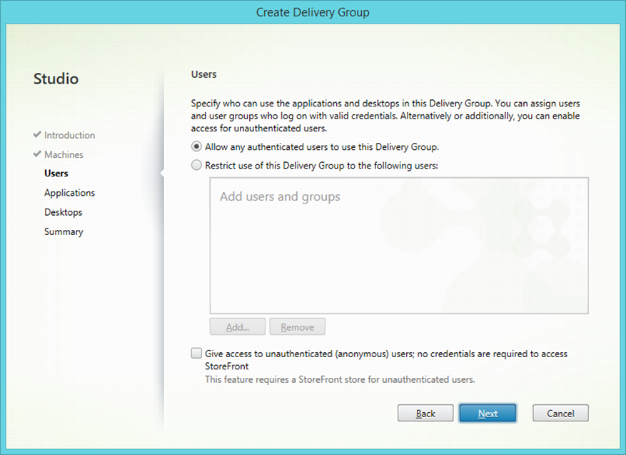 Setting up Citrix XenApp