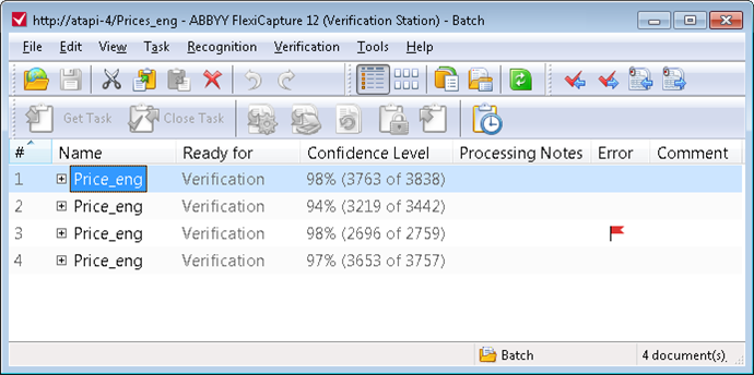 Verification Station window